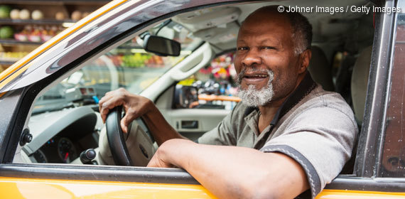 Taxifahrer in New York