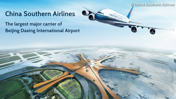 China Southern Airlines am neuen Beijing Daxing International Airport
